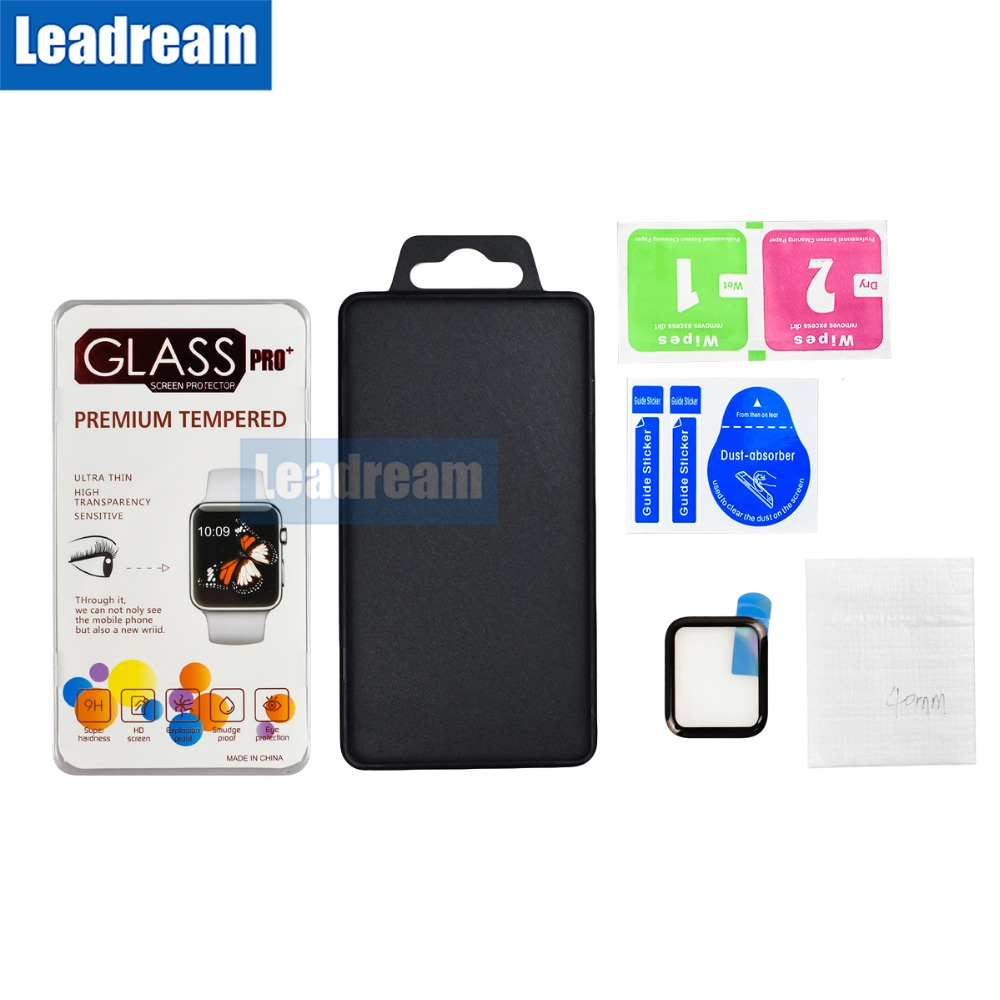 50PCS Free DHL 3D Full Glue Full Cover Screen Protector Tempered Glass for Apple Watch 1