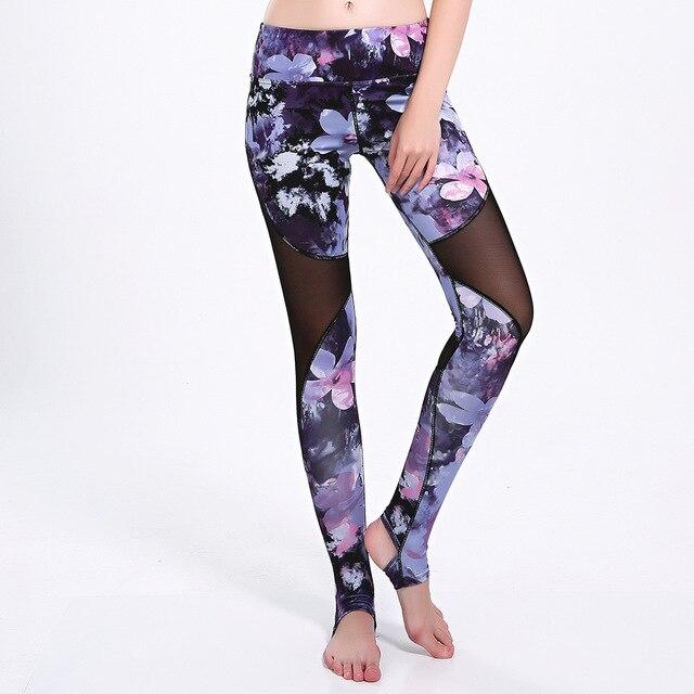 725157bb80675 US $16.99 |Hellrosa kirschblüte Plus größe XXXL sport legging Tropischen  blumen violet floral GYM leggins sport frauen fitness yoga hosen in ...