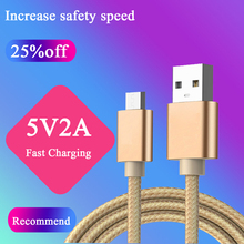 100pcs Micro USB Cable 2A Fast Charging Mobile Phone Charger 1 1.5 2 M Date for  Xiaomi/ Huawei /Android Tablet/iph