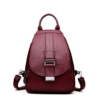 Women Backpack Designer Female Backpack Students School Bag For Teenage Girls Soft Leather Travel Backpack Mochila