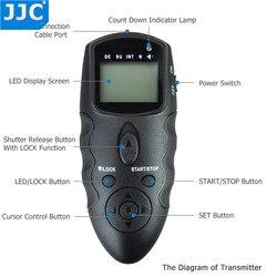 JJC lustrzanka cyfrowa interfejs odbiornik podczerwieni zegar na podczerwień pilot do SONY A7III/A6500/A6300/RX100V/HX60V/HX90/HX90V/A58/A7 II/A7S
