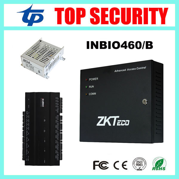 Biometric fingerprint and RFID card access control system 4 doors door access control panel with battery function power supply