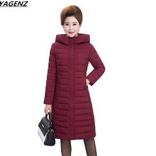 Women Basic Coat New Autumn Winter Jacket Mother Clothing Hooded Thin Down Cotton Jacket Plus Size 5XL Women Jackets Coats K652