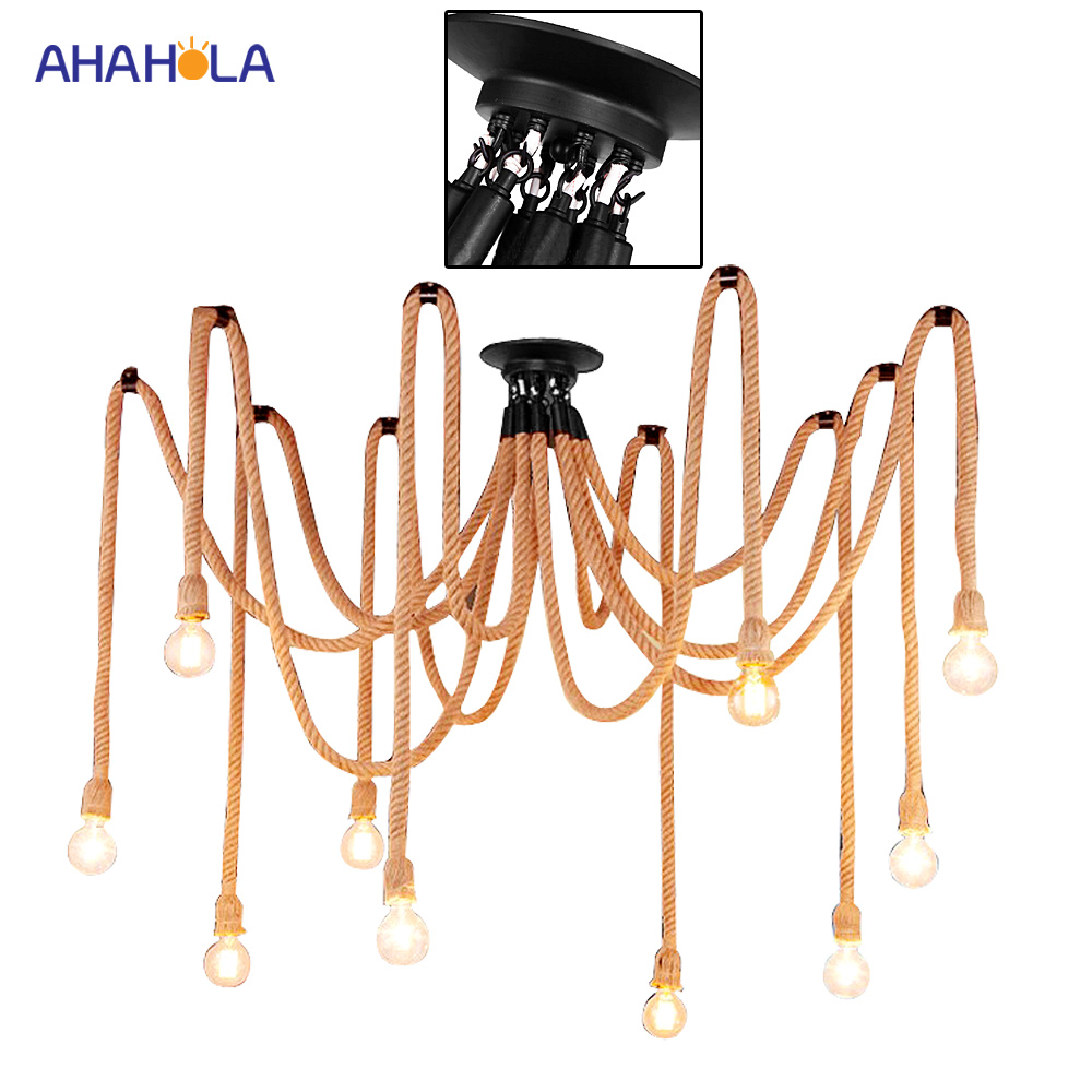 Led pendant Lighting Vintage Lights Retro Loft Lamp Vintage Industrial Lighting Rope Pendant Lamp Nordic Lampshade free shipping bohemian tiffany pendant lights vintage decoration lighting modernhanging lamp lighting vintage pendant lighting