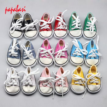 7cm zapatos para muñecas 18 pulgadas muñeca 43CM baby 1/3 muñecas sneacker zapatos deportivos accesorios Juguetes