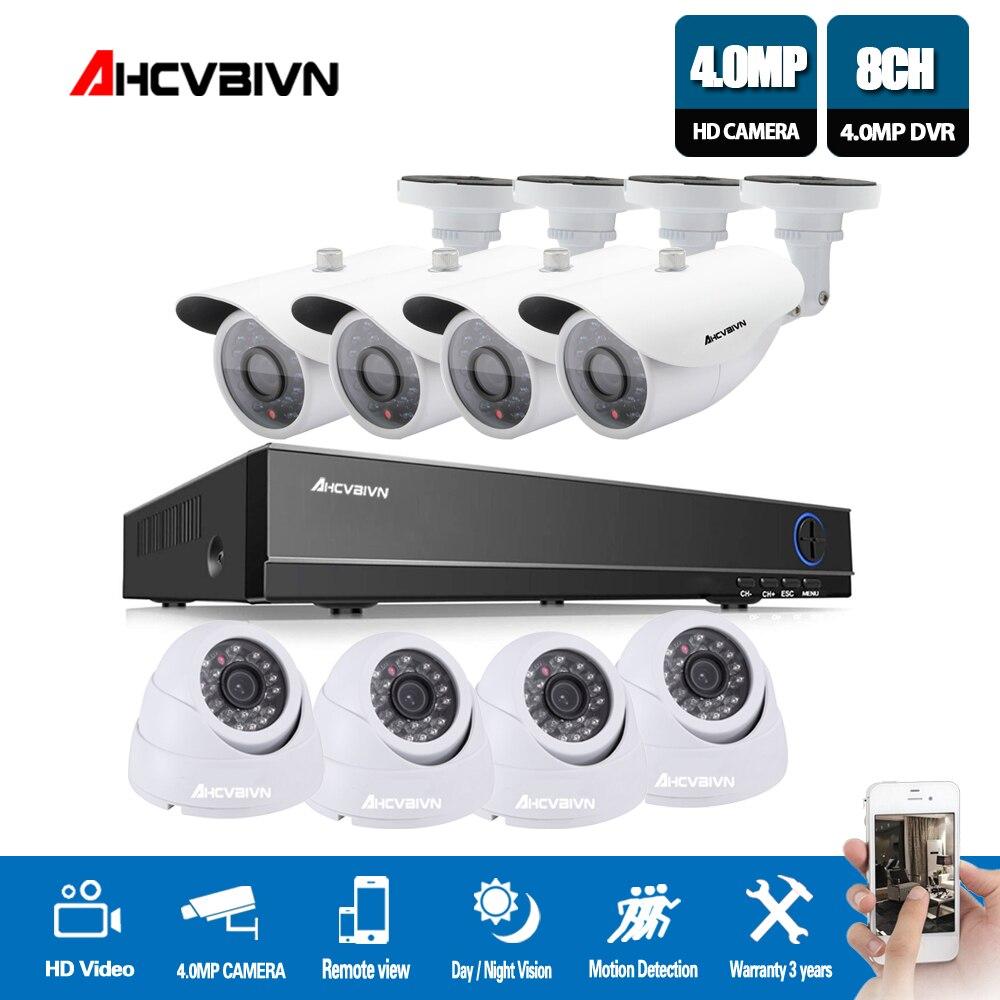 4 K H.264 système de vidéosurveillance 8CH HDMI IR étanche 4.0MP métal caméra Plug-Play mouvement nuit sécurité