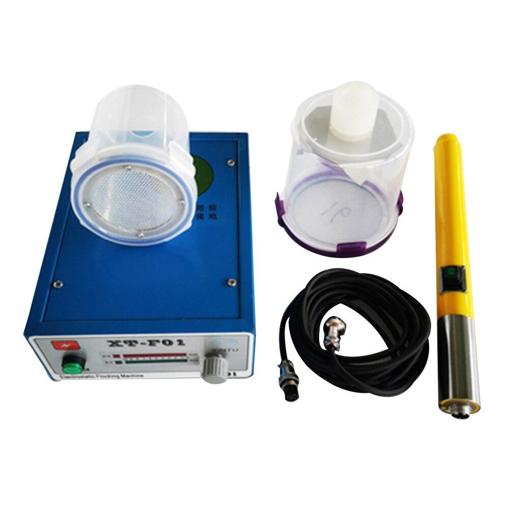 Floccaggio elettrostatico macchina attrezzature XT---F01 affollamento macchina trasporto VELOCE