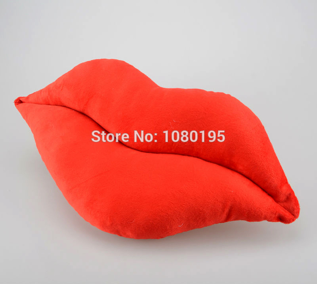 Novelty Item Funny Pink And Red Lip Plush Cushion Decoration Cushion Sexy  Toys Sofa Chair Pillows