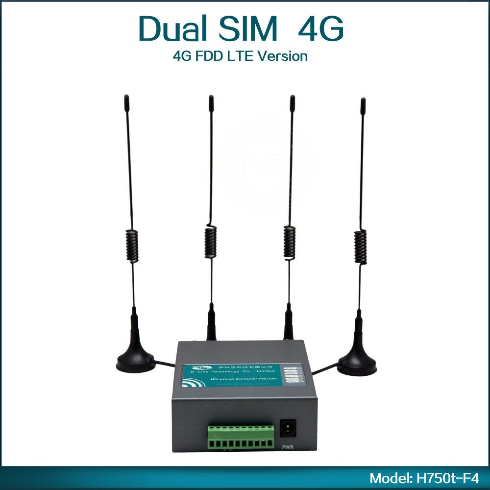 Mini 4G FDD LTE Wifi Wireless Router Modem with Dual Sim Card Slot for North America ( Model: H750t-F4 ) telit ln930 dw5810e m 2 twh3n ngff 4g lte dc hspa wwan wireless network card for venue 11