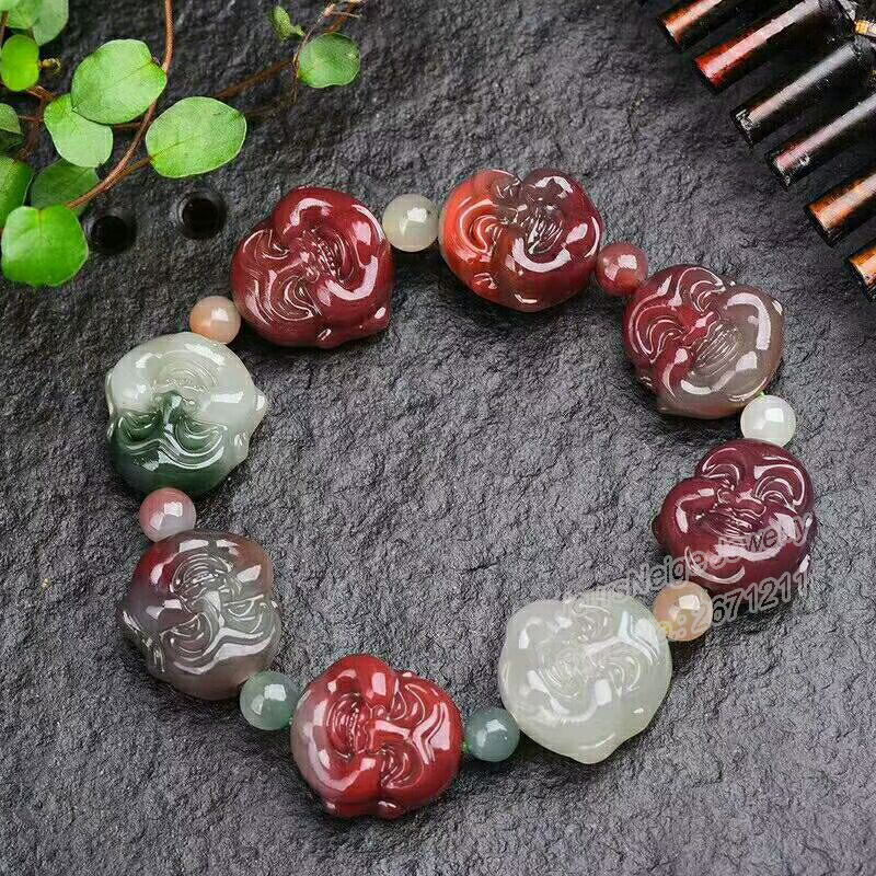 Wholesale Fine Multicolor Natural Stone Bracelets Caved Laughing Buddha Beads Bracelet Lucky for Women Men Fashion Jewelry Wholesale Fine Multicolor Natural Stone Bracelets Caved Laughing Buddha Beads Bracelet Lucky for Women Men Fashion Jewelry
