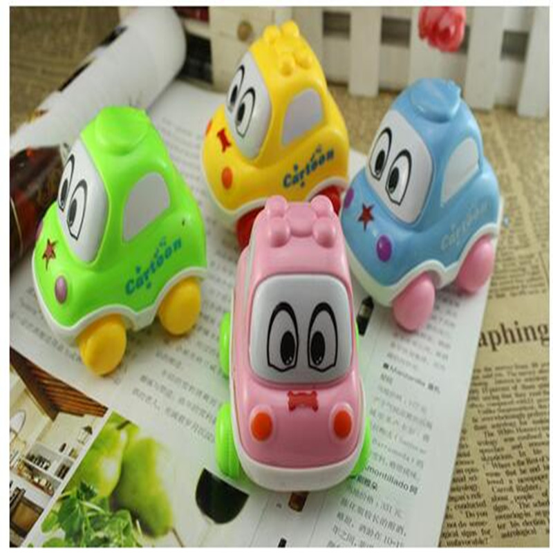 Educational Latex Lovely animal Car Taxi Toy Baby Q Edition Cartoon Voice BB Car Toy For Baby Kids Bath Toy