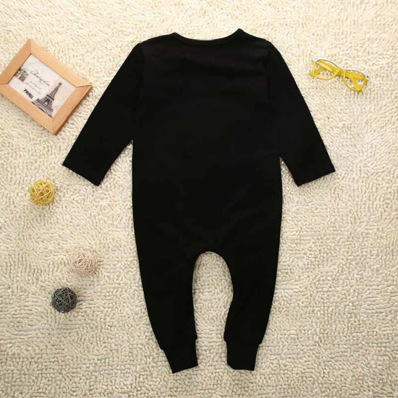 Baby Like a Boss Boys /& Girls Black Short Sleeve Romper Climbing Clothes for 0-24 Months