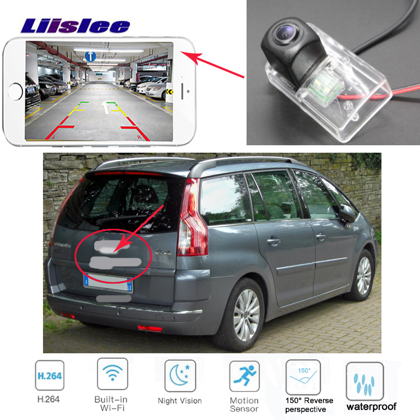 LiisLee caméra de recul sans fil pour citroën C3 Picasso Grand C4 Picasso MK1 HD vision nocturne caméra de recul étanche pour voiture