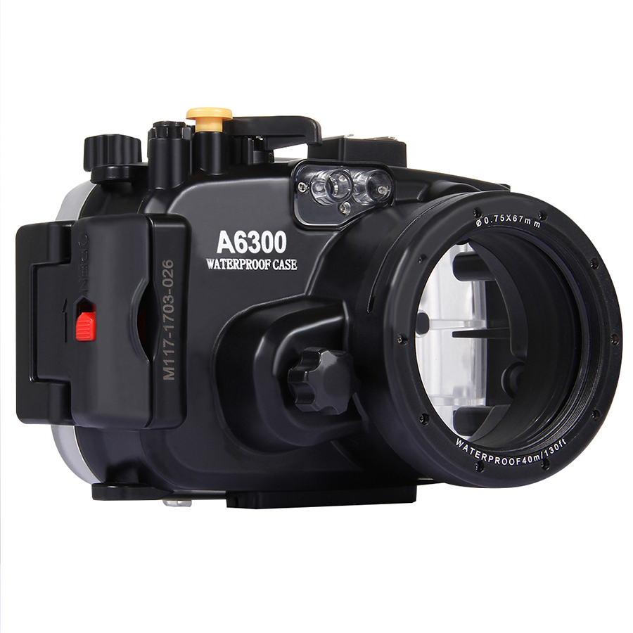 40m 130ft Depth Underwater Swimming Diving Case Waterproof Camera Case cover housing For Sony A6300, DHL free shipping
