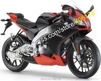 Hot Sales,For Aprilia RS4 125 Fairing 2012 2013 2014 2015 RS4 50 12 13 14 15 Black Red Motorbike Fairing (Injection molding)