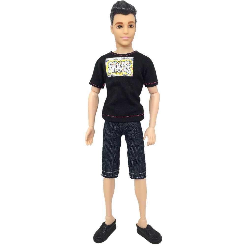 NK один комплект принц Кен Кукла одежда модный костюм крутой наряд для Барби Мальчик Кен Кукла лучший детский подарок на день рождения 031A