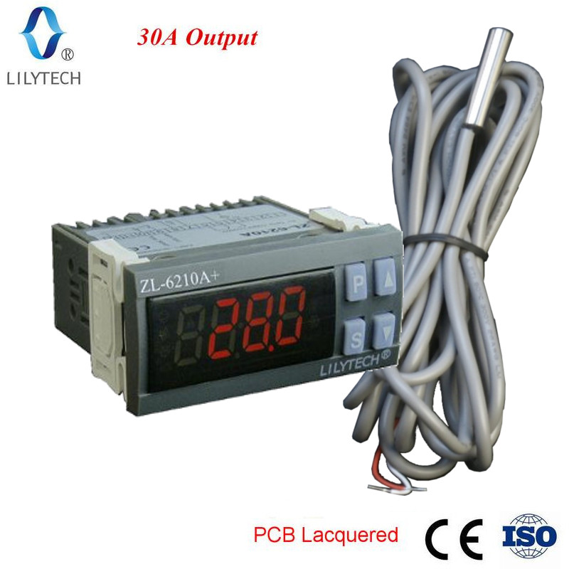 ZL-6210A +, 30A Ausgang, Digitale Temperatur Controller, Thermostat, Lilytech