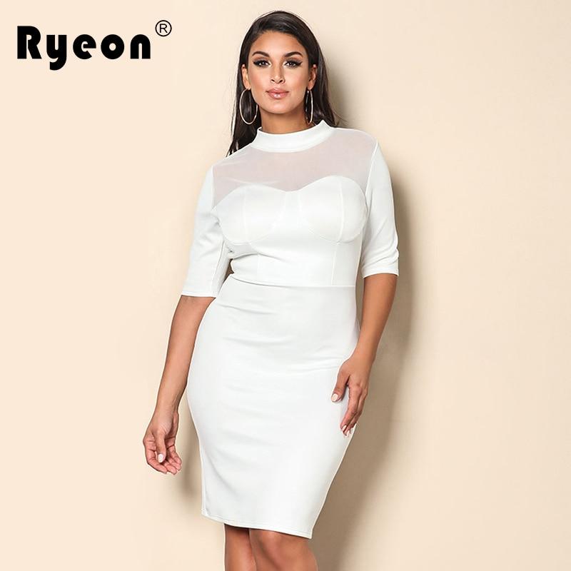 Ryeon роковой ETE осень 2017 г. плюс Размеры платье красный, белый Туника пикантные сетчатые вечерние Винтаж Wonder Woman Платья для женщин Бразилии XXL, ...