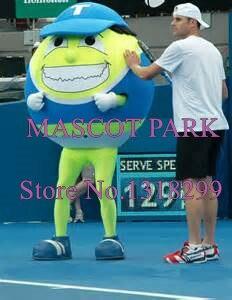 Mascotte Anime Cosplay Costumes Terry la balle de Tennis Mascotte Costume dessin animé Sport thème Mascotte déguisements Kits pour l'école