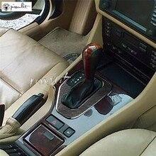 Углеродное волокно переключения передач переключения рамка Крышка Накладка для BMW E39 LHD стайлинга автомобилей Ccessories наклейки