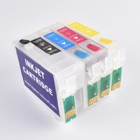 BLOOM compatible T1431 -T1434 refillable ink cartridge for epson Workforce WP-7011 WP-7018 WP-7511 WP-7521 WF-3011 WF-3521
