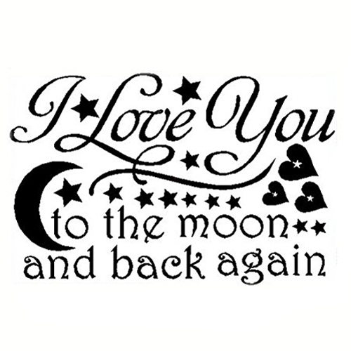 COFA LOVE Quotes Wallpaper I LOVE YOU To The Moon And Back