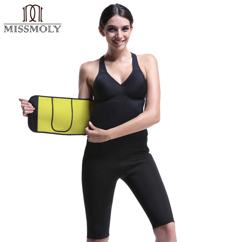 36959ae1a8 Miss Moly Thermo Modeling Belts Neoprene Waist Trainer Tummy Slimming  Control Shapewear Reducing Body Shaper Reductive