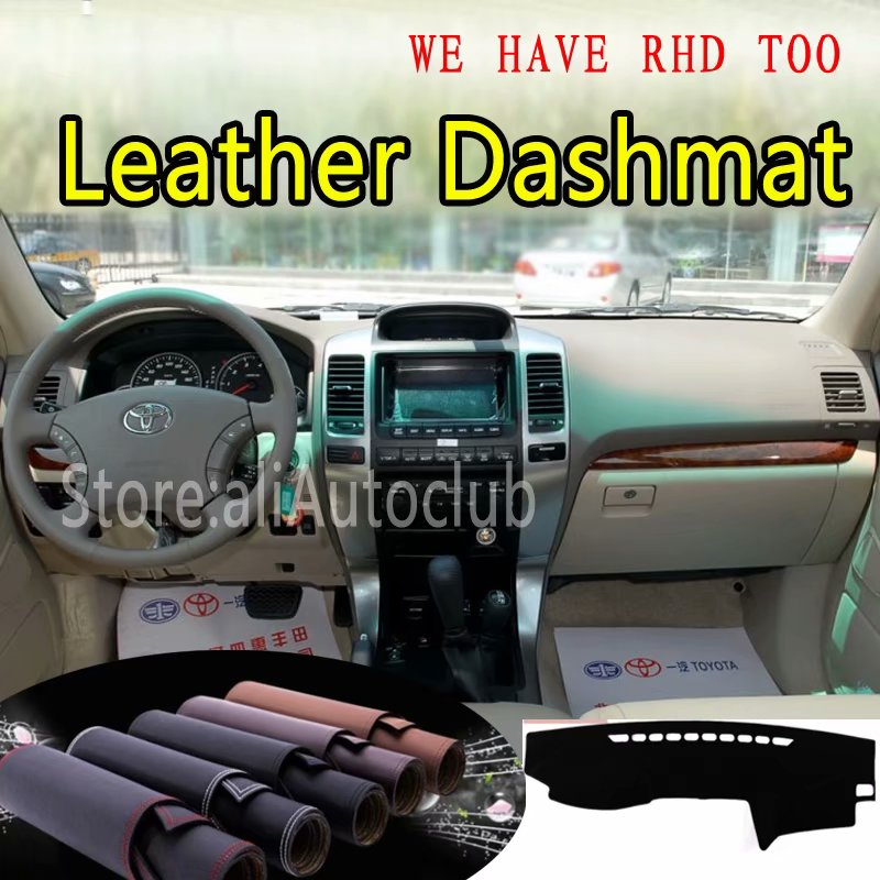 For Toyota Landcruiser Prado 2700 4000 2004-2009 2005 2006 2007 Leather Dashmat Dashboard Cover Prevent Sunlight Pads Dash Mat