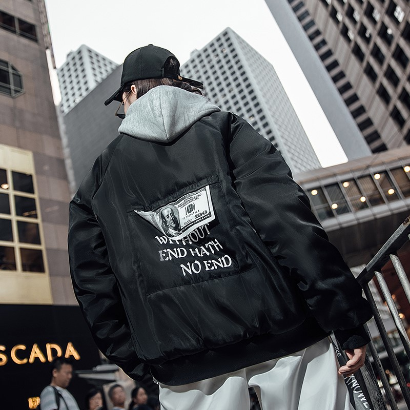 Invierno Marca Gruesa black White Chaquetas Chaqueta ch02 70 Cálido Hombre Y Impresión Abrigos Kxp18 Moda De Bormandick Cazadoras qPv5THw