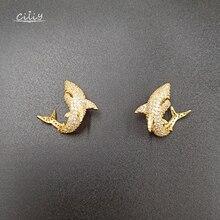 Ciliy Earings Fashion Jewelry Micro-Inlaid Zircon Small Shark Stud Earrings Gifts For Women Designer Luxury Earring F7920FY
