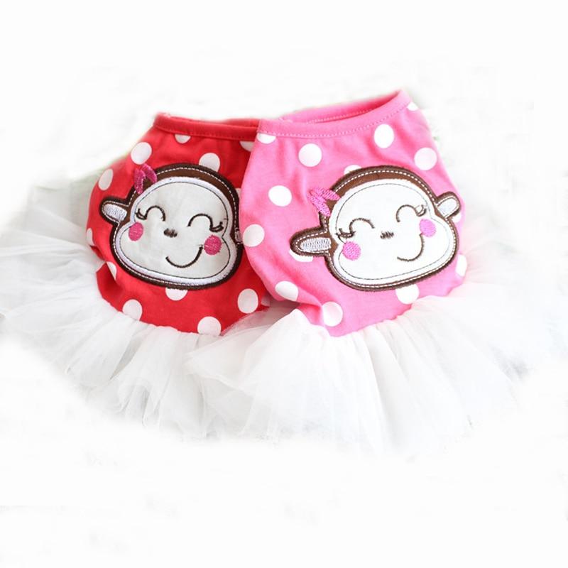 Nuevo applique mono patrón Polka Dot ropa para perros vestido para ...
