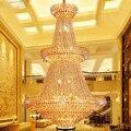 Современные хрустальные люстры  осветительная арматура  американский золотой кристалл  люстра  лампа для отеля  зала  дома  внутреннего осв...