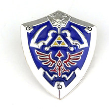Mqchun 2 cores hyrule hyrulian escudo pino distintivo broche quente jogo medalha broche lembrança colecionável