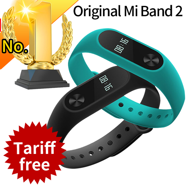 Original Xiaomi Mi Band 2 Miband Band2 Wristband Bracelet with Smart Heart Rate Fitness Touchpad OLED