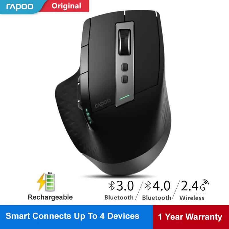 Rapoo souris sans fil rechargeable Laser Souris Commutateur entre Bluetooth 4.0/3.0 & 2.4G pour 4 Dispositif Se Connecter De Bureau/Tablet PC/Téléphone
