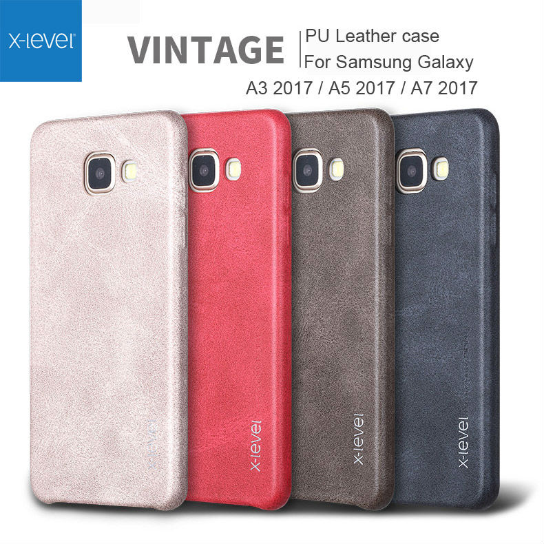 online store 2a862 24896 US $6.39 15% OFF|X Level Case For Samsung Galaxy A5 A3 A7 J3 J5 J7 2017  Retro Vintage Leather Back Cover For Samsung Galaxy A6 A8 J4 J6 J8 2018-in  ...