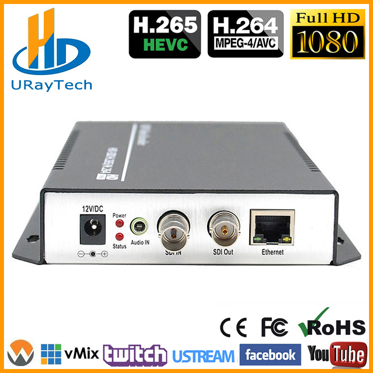 URay HEVC H 265 H 264 HD 3G SDI To IP Live Streaming Video Audio Encoder