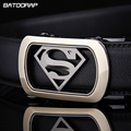 [BATOORAP]2017 Mens Luxury Brand Belt Belts Superman Automatic Buckle Genuine Leather Belt Men Accessories Casual Waist Belt New