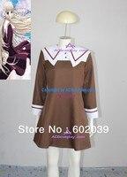 Chobits Chii School Uniform Cosplay Costume Brown Skirt
