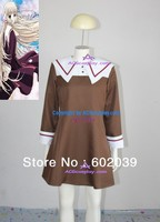 Chobits Chii School Uniform Cosplay Costume Brown Skirt