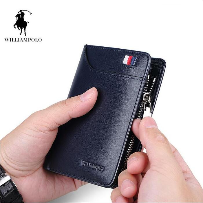 Williampolo Men wallets Multicard Genuine Leather coin purse Corss Pattern Men allet free freight python skin handmade men wallet multicard genuine leather coin purse corss pattern men wallet