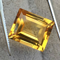 High clarity natural citrine loose stone weight 9 ct size 12 mm*14 mm*5 mm loose  topaz saffronite