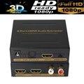 2-портовый HDMI Разветвитель 1X2 HDMI audio extractor Spdif/toslink + L/R аудио выход 3D и полный HD1080P