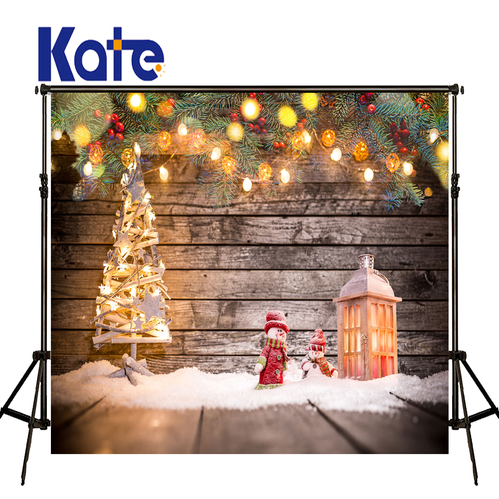 KATE Photography Backdrops Christmas Decorations For Home Luces De Navidad and Pine Branches Photo Wood Floor Children Backdrop cp1l em30dt1 d plc cpu dc input 18 point transistor output 12 point new original