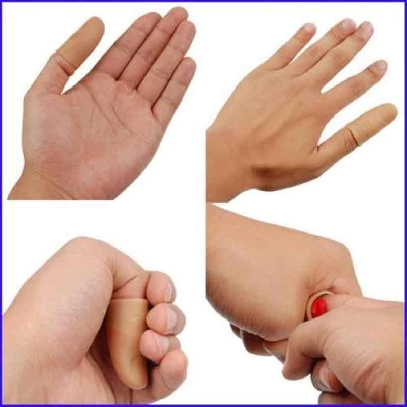 2 ชุด Thumb Thumb สีแดง Vanish หายไป Magic Trick Play ของเล่นปาร์ตี้ฮาโลวีน Prank Prop Magic เคล็ดลับนิ้วมือ props Soft ของเล่น