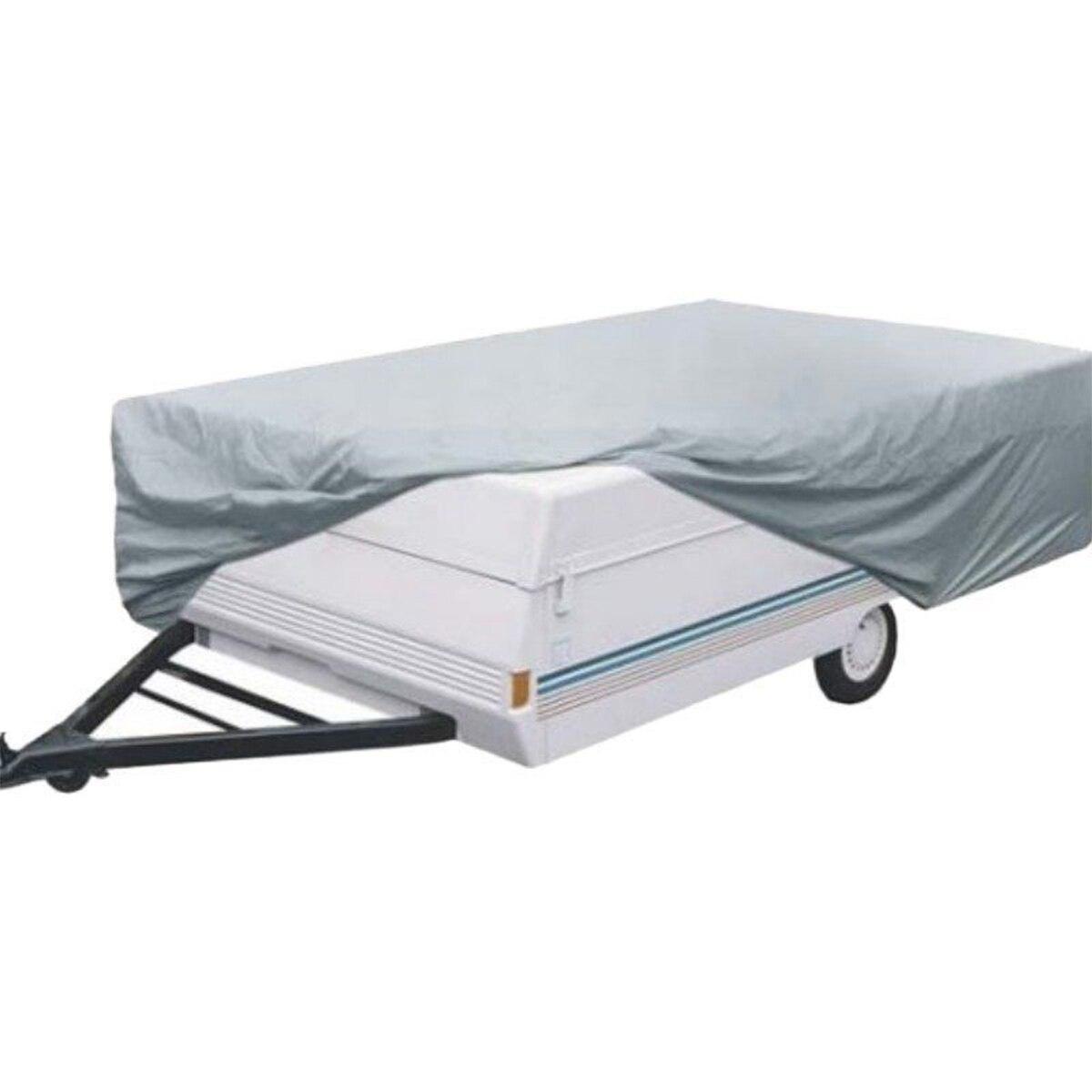 Couverture de remorque pliable universelle 210D Oxford Polyester tissu imperméable UV protection de Camping en plein air pour RV 366x220x120 cm