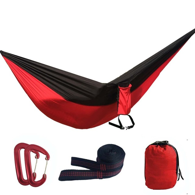 assorted color parachute nylon hammockoutdoor camping hammocks double person portable swing hammock assorted color parachute nylon hammockoutdoor camping hammocks      rh   aliexpress