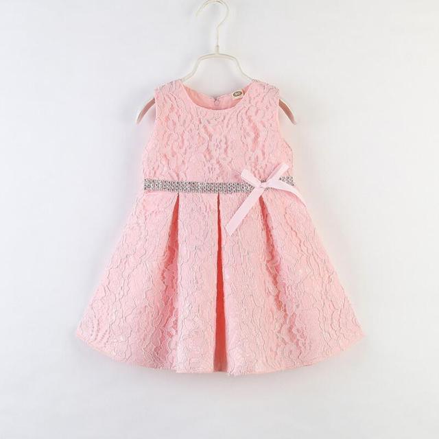 2019 חדש קיץ תינוק בנות תחרה שמלות ילדה בגדי ילד של נסיכת שמלת שלי קטן כותנה שמלת ילדי שמלה חמוד פוני