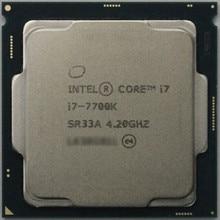 Intel Core 7 series Processor I7 7700K  i7 7700K  I7-7700K CPU LGA 1151-land FC-LGA 14 nanometers Quad-Core cpu can work