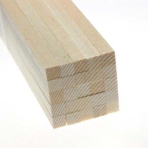 Image 3 - 1000mm ארוך גודל 10x10/12x12/15x15/20x20mm ארוך כיכר עץ AAA + בלזה עץ מקלות רצועות למטוס סירת מודלים דגם DIY